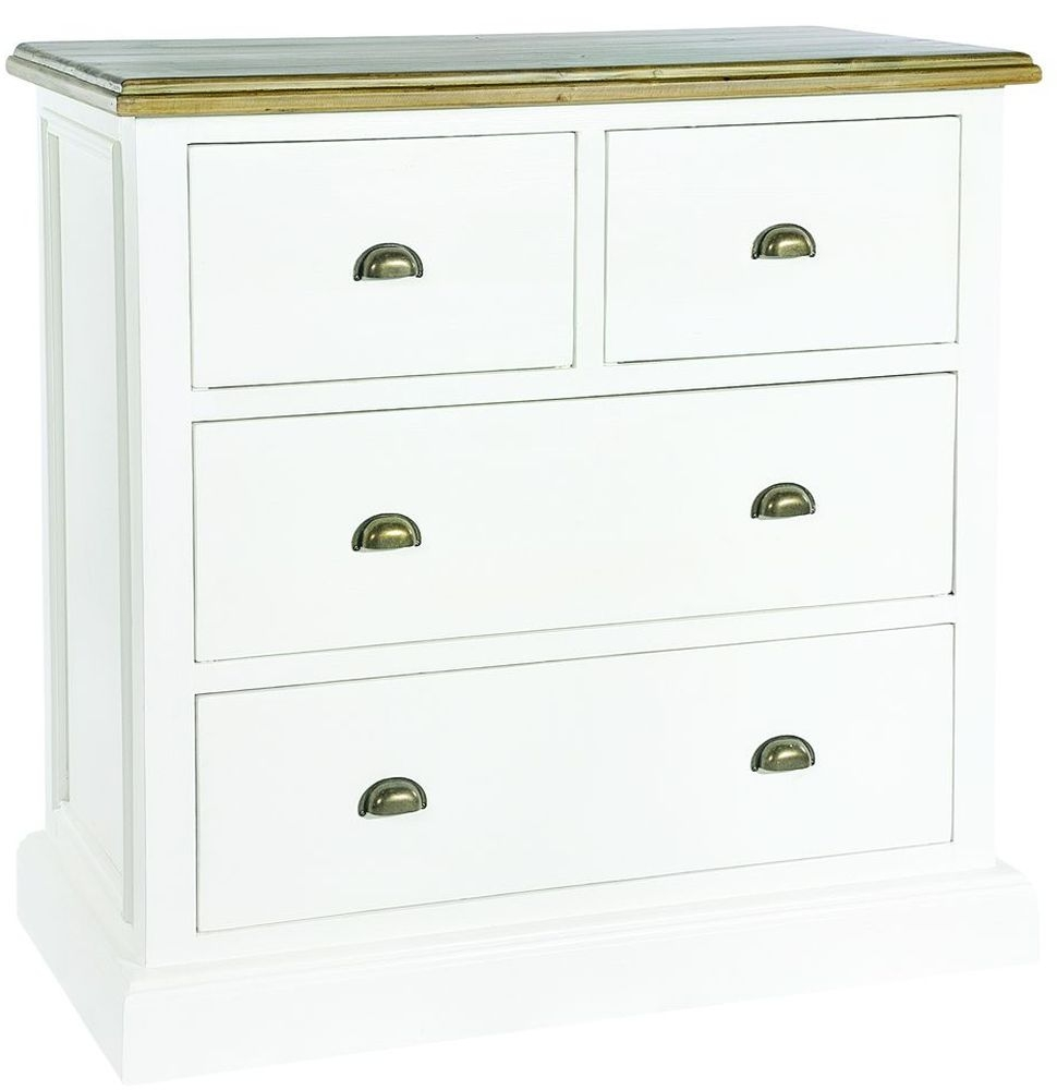 Rowico Lulworth 2 Over 2 Drawer Chest - White