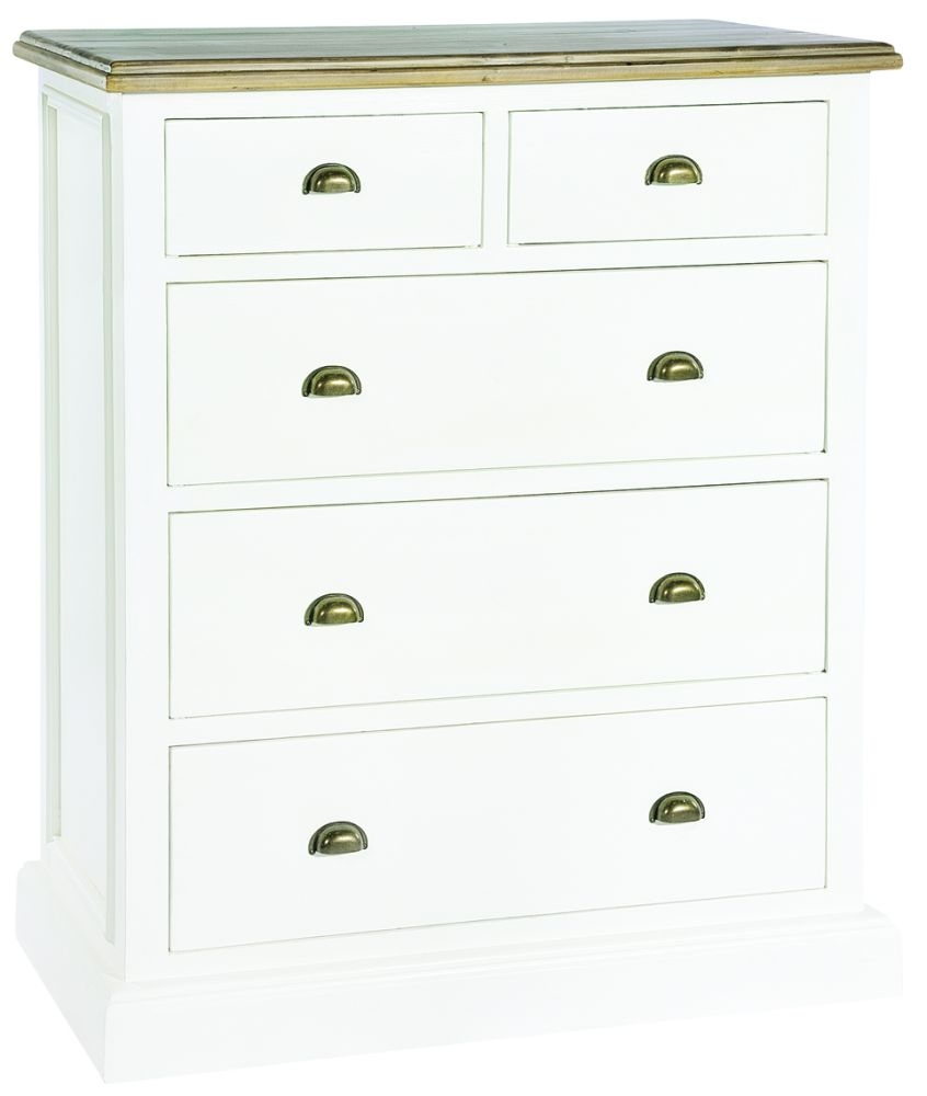 Rowico Lulworth 2 Over 3 Drawer Chest - White