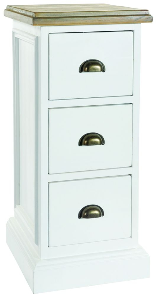 Rowico Lulworth 3 Drawer Chest - White