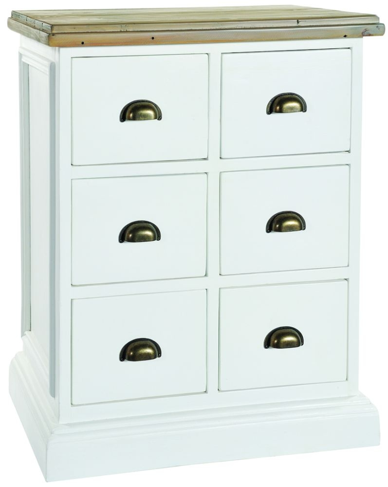 Rowico Lulworth 6 Drawer Chest - White