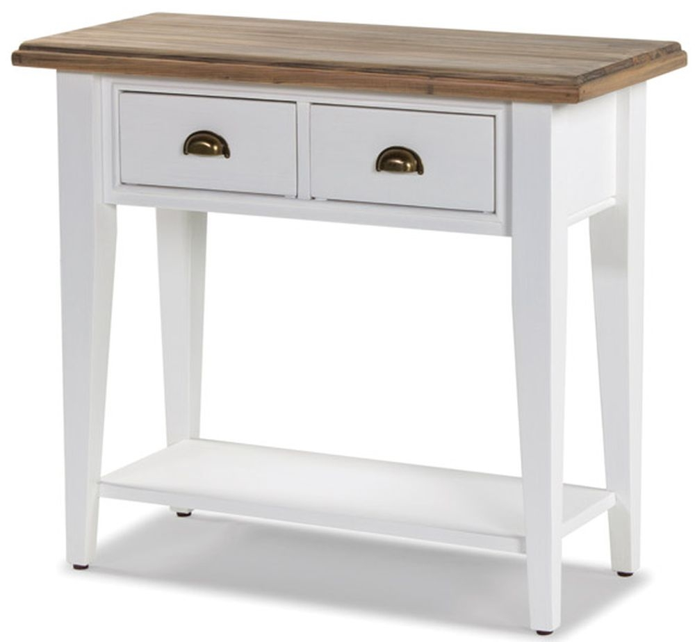 Rowico Lulworth White 2 Drawer Console Table