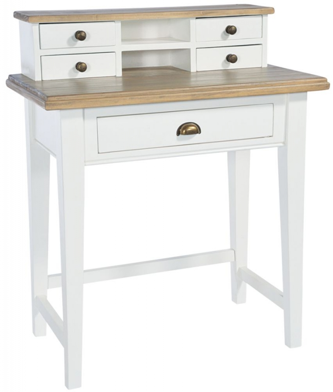 Rowico Lulworth White 5 Drawer Writing Desk