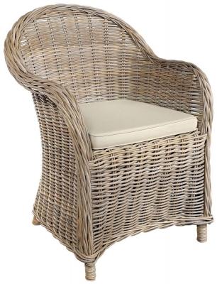 Rowico Maya Rattan Grey Wash Armchair