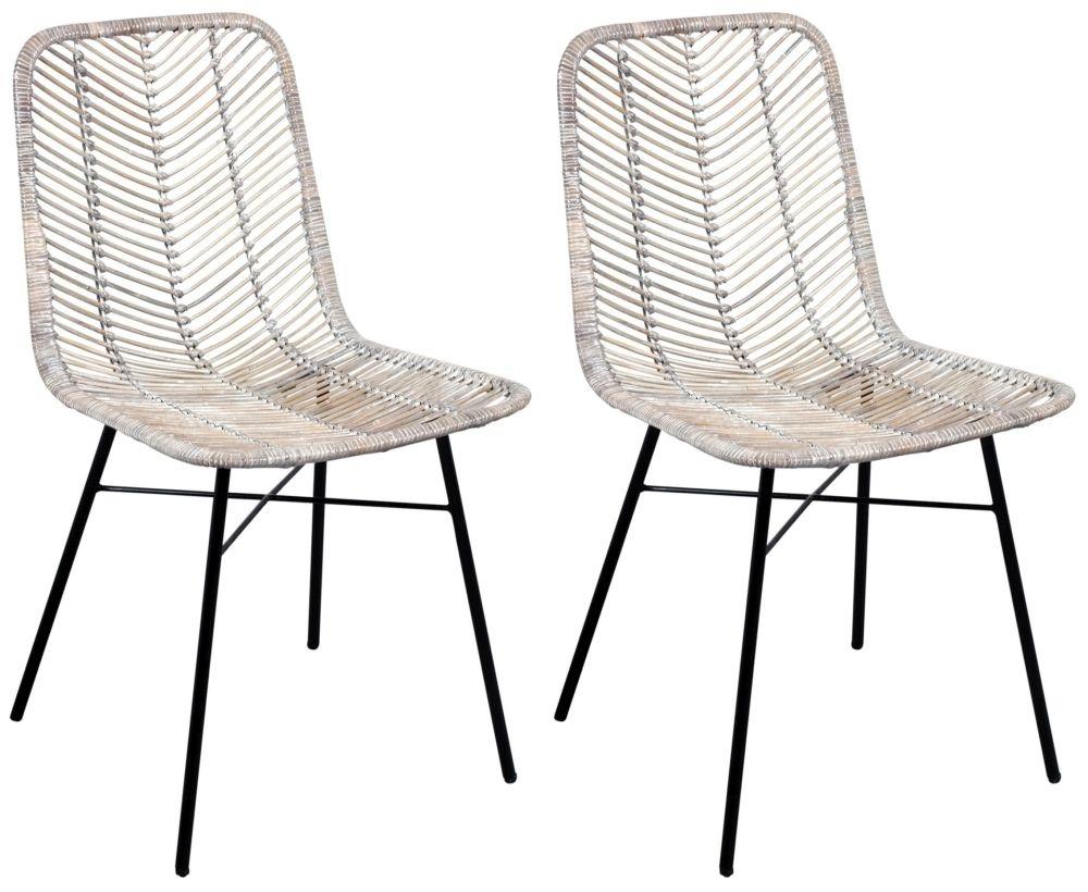 Astonishing Rowico Maya Rattan Dining Chair Pair White Ncnpc Chair Design For Home Ncnpcorg