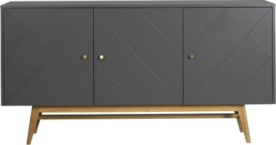 Rowico Monterey Grey and Oak Large Sideboard