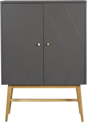 Rowico Monterey Grey and Oak Tall Cupboard