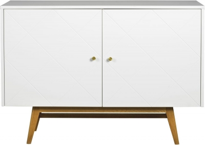 Rowico Monterey White and Oak Sideboard
