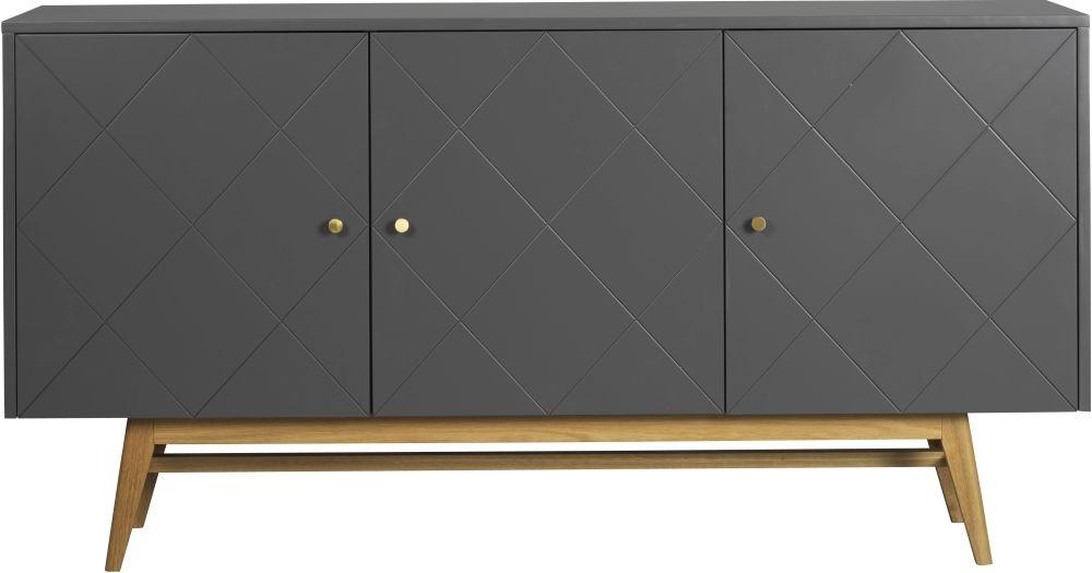 Rowico Monterey Grey and Oak Large Sideboard