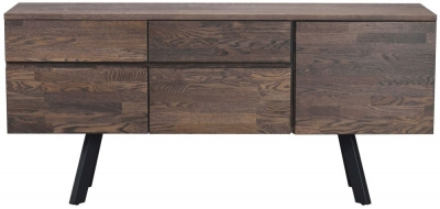 Rowico Picasso Dark 3 Drawer 2 Drawer Sideboard