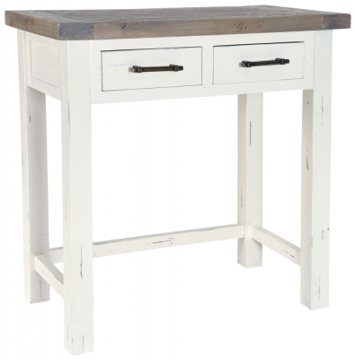 Rowico Purbeck Distressed White 2 Drawer Dressing Table
