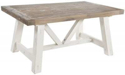 Rowico Purbeck Distressed White Small Dining Table