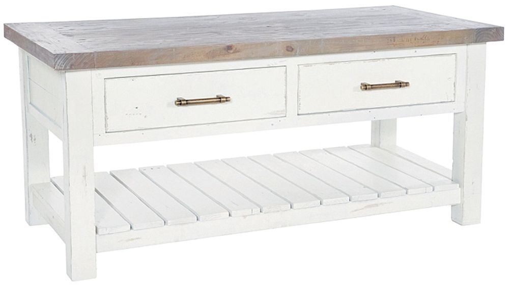Rowico Purbeck Coffee Table - Distressed White