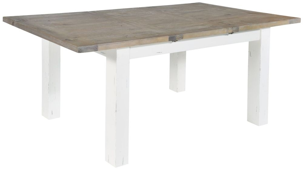 Rowico Purbeck Small Extending Dining Table - Distressed White