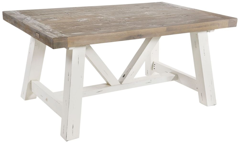 Rowico Purbeck Large Dining Table - Distressed White