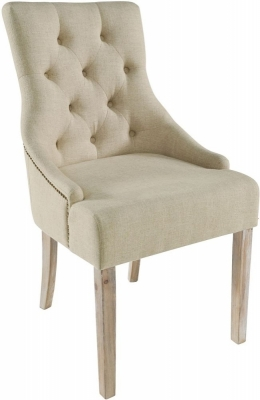 Clearance - Rowico Stella Fabric Dining Chair (Pair) - Cream - New - E-819