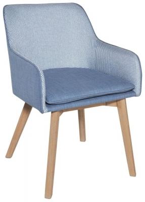 Clearance - Rowico Louise Fabric Chair - Blue - New - FSS9004