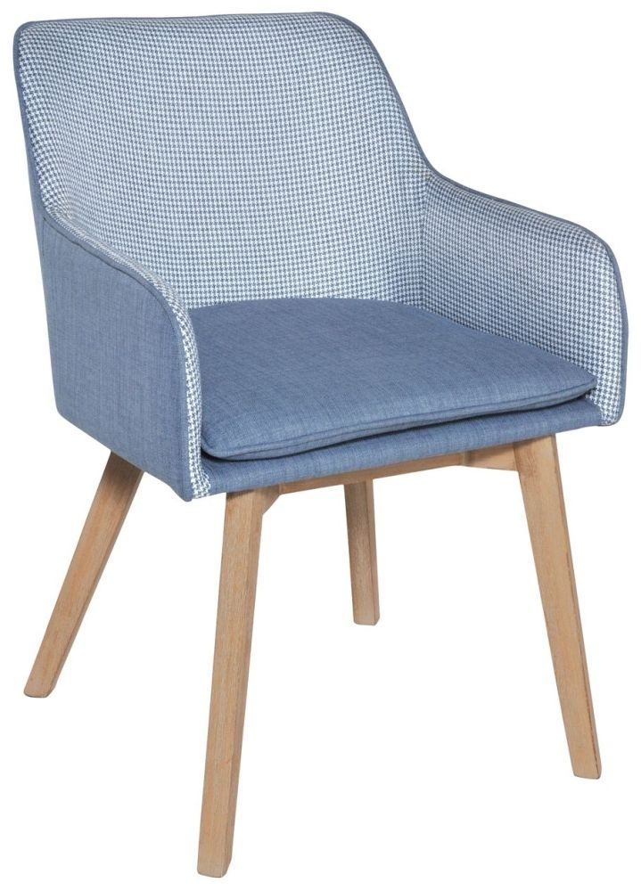 Clearance - Rowico Louise Fabric Chair - Blue - New - FSS9003