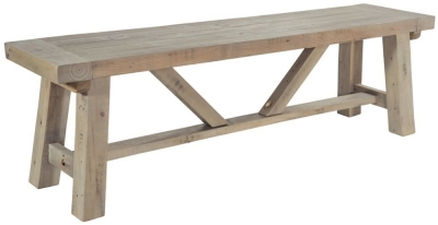 Rowico Saltash Reclaimed Pine Small Dining Bench