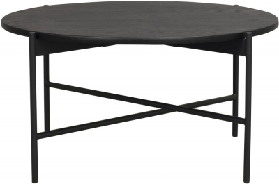 Rowico Skye Black Round Coffee Table
