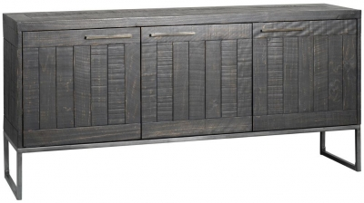 Rowico Tate Black 3 Door Sideboard