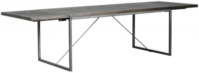 Rowico Tate Black Extending Dining Table with Leaves