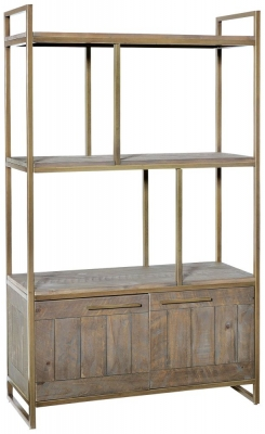 Rowico Tate Bronze 2 Door Bookcase