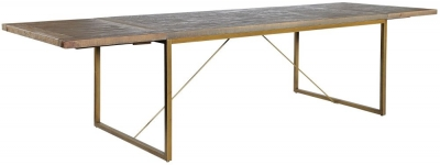 Rowico Tate Bronze Extending Dining Table with Leaves