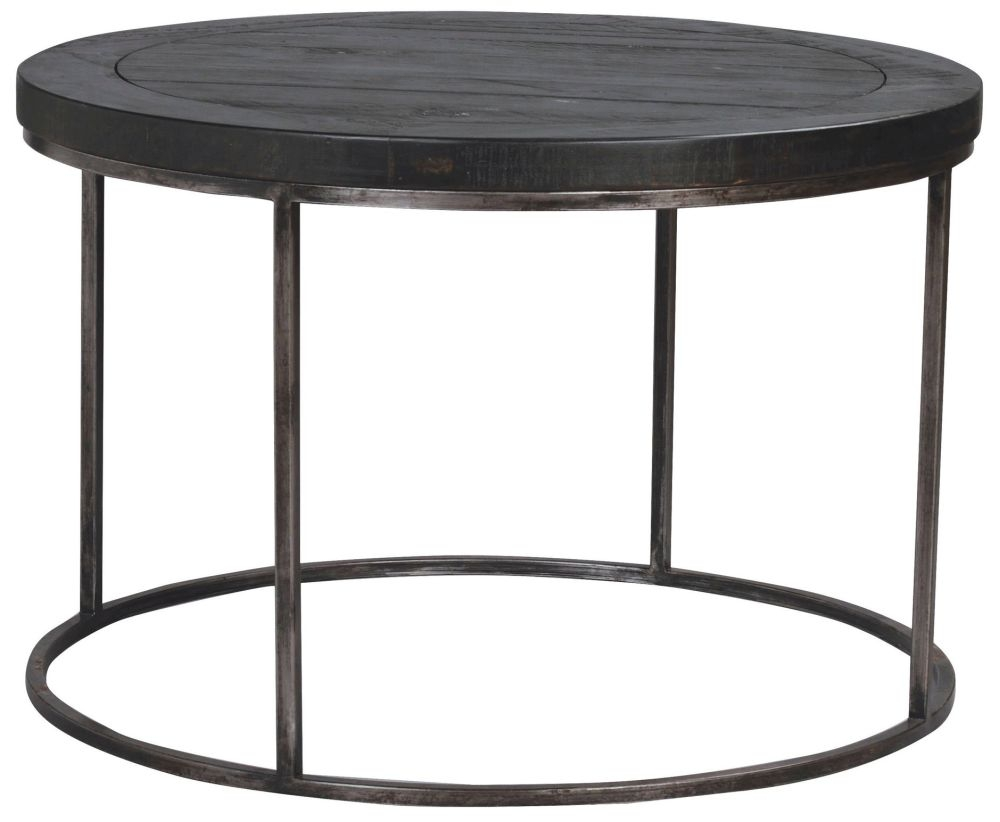 Rowico Tate Black Round Coffee Table