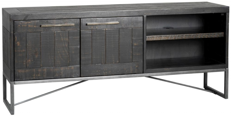 Rowico Tate Black 2 Door TV Unit