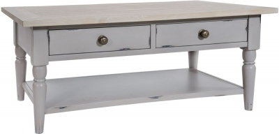 Rowico Warwick Grey 2 Drawer Coffee Table