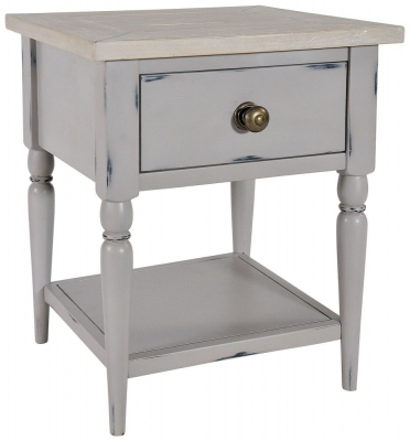 Rowico Warwick Grey 1 Drawer Lamp Table