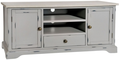 Rowico Warwick Grey 2 Door 1 Drawer TV Cabinet