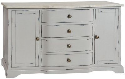 Rowico Warwick Grey 2 Door 4 Drawer Large Sideboard