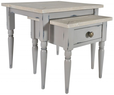 Rowico Warwick Grey Nest of Tables