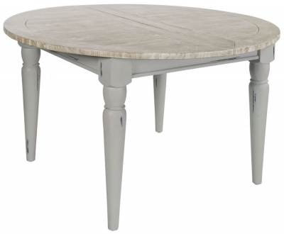 Rowico Warwick Grey 120cm-170cm Round Extending Dining Table