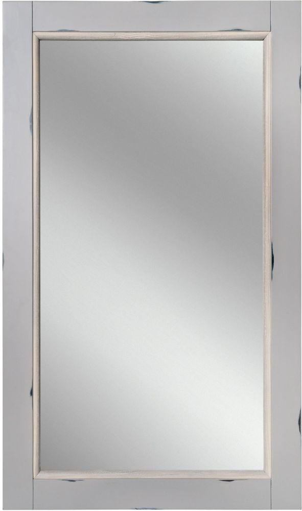 Rowico Warwick Grey Rectangular Wall Mirror - 120cm x 70cm