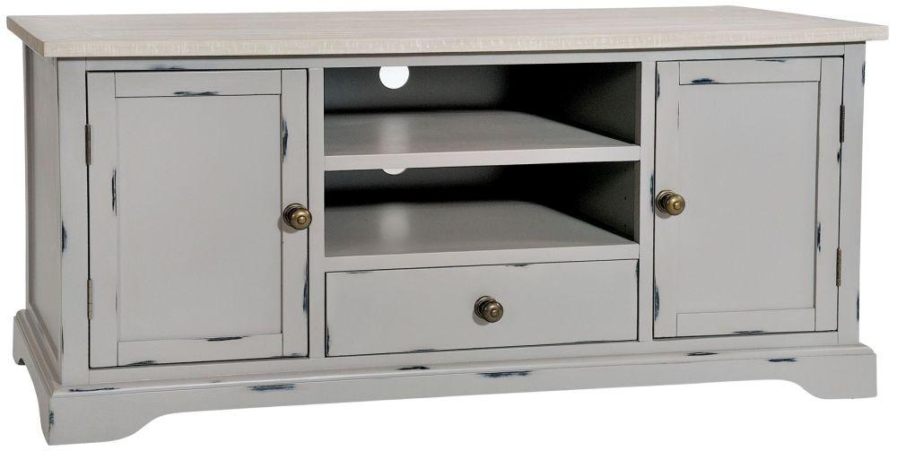 Rowico Warwick Grey 2 Door 1 Drawer TV Cabinet