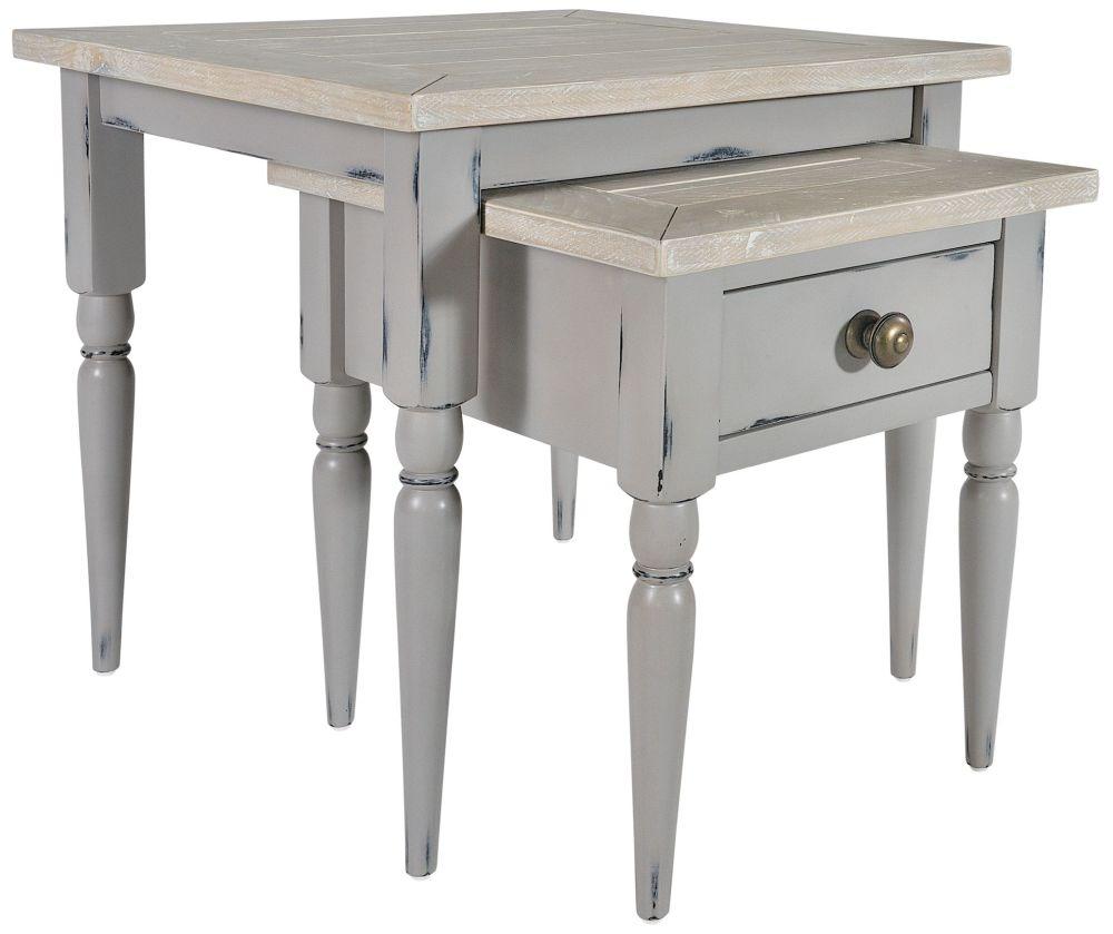 Rowico Warwick Grey Nest of Tables