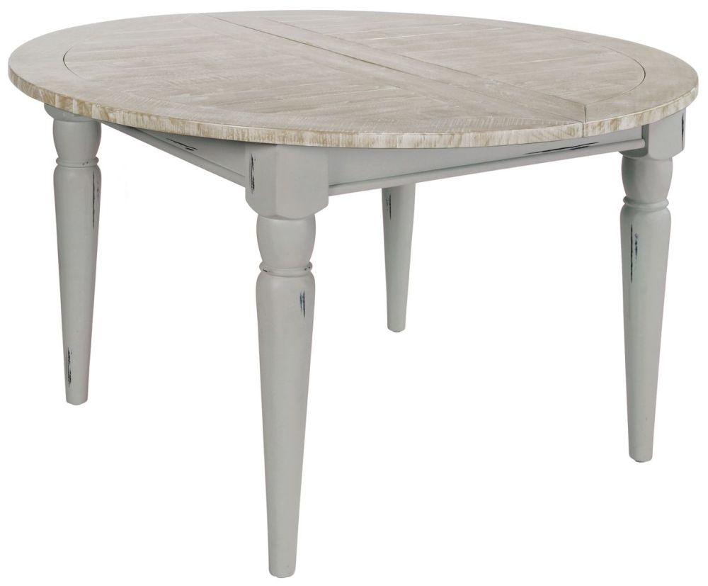 Rowico Warwick Round Extending Dining Table - Grey