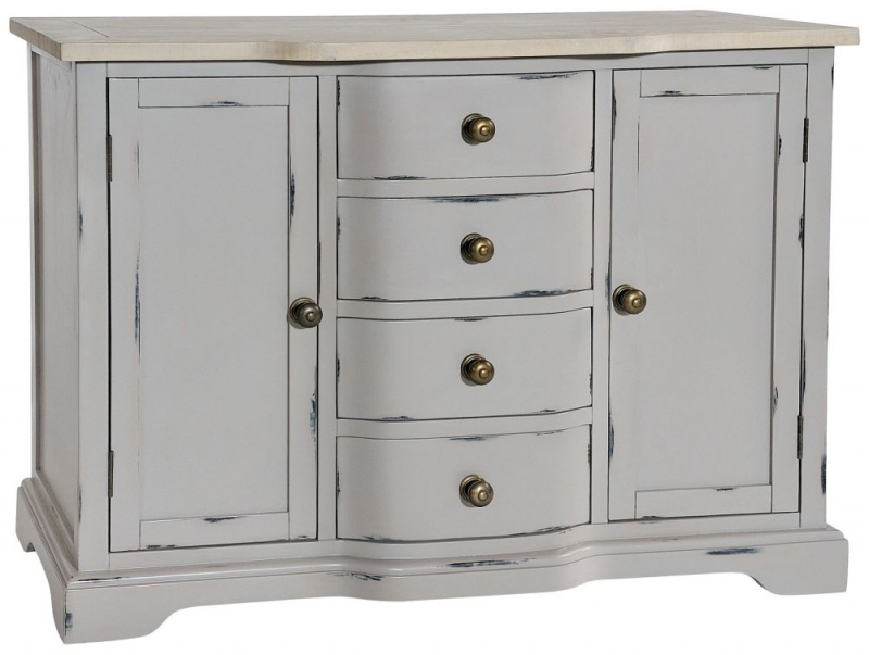 Rowico Warwick Grey 2 Door 4 Drawer Sideboard