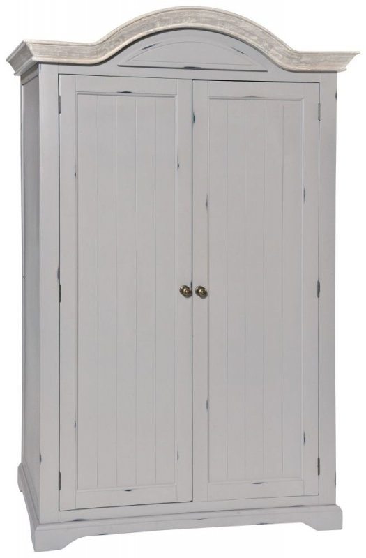 Rowico Warwick Grey 2 Door Wardrobe