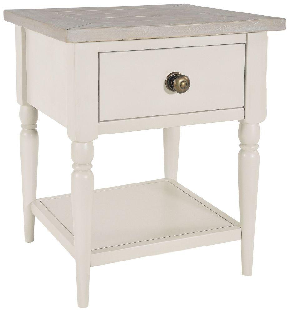 Rowico Warwick Ivory 1 Drawer Lamp Table