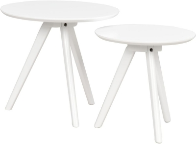 Rowico Yumi White Nest of 2 Tables