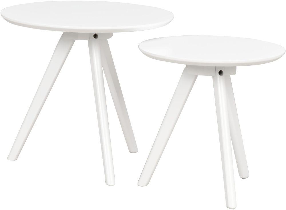 Rowico Yumi White Nest of 2 Tables