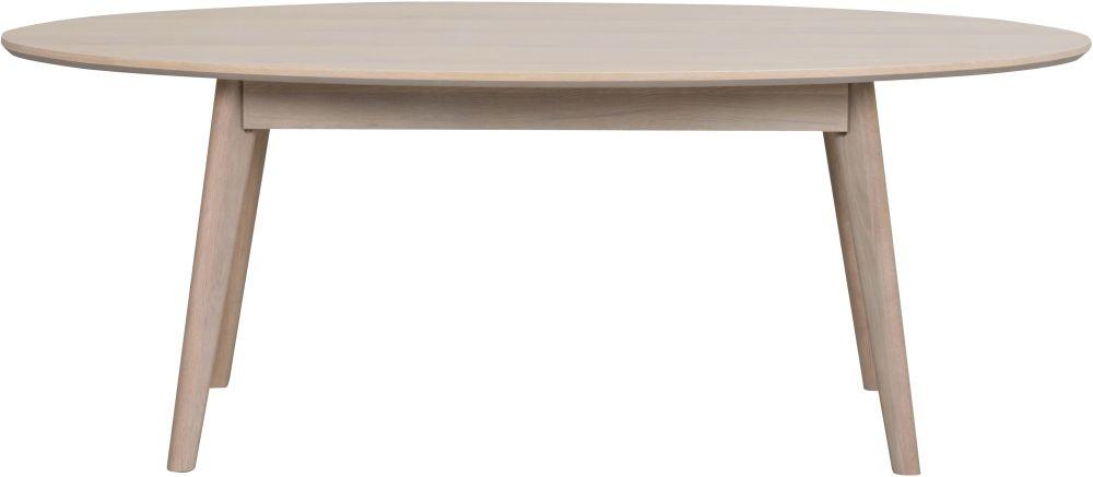 Rowico Yumi Whitewash Oval Coffee Table