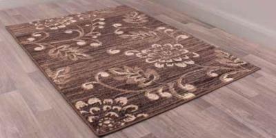 Designer Poly Verso Chocolate Polypropylene Rug