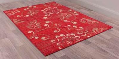 Designer Poly Verso Red Polypropylene Rug
