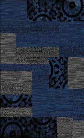 Designer Poly Patch Block Navy Polypropylene Rug