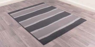 Modern Poly Nova Stripe Grey Polypropylene Rug