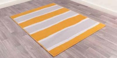 Modern Poly Nova Stripe Ochre Polypropylene Rug